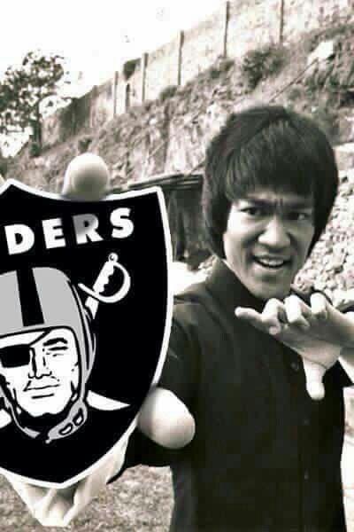 Raiders Bruce Lee Oakland Raiders Logo Oakland Raiders