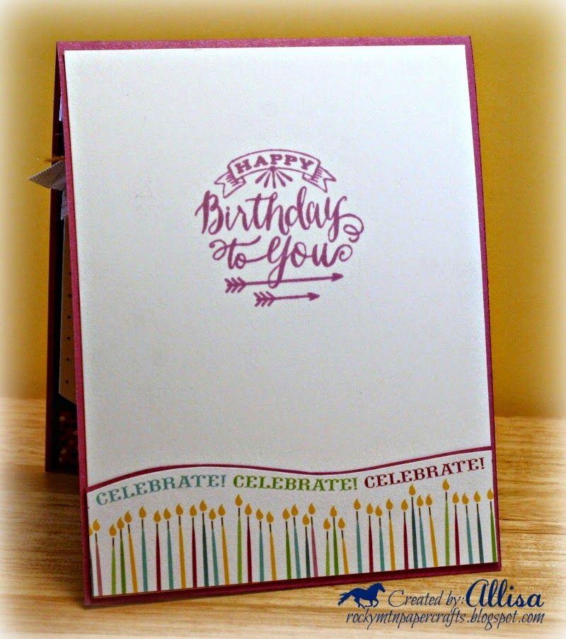 Rocky Mountain Paper Crafts birthday card Confetti