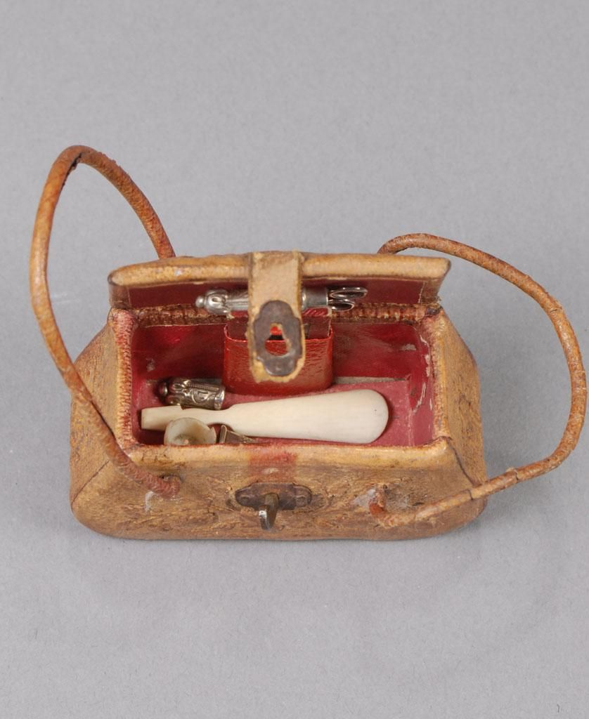 Embossed Leather Fashion Doll Necessaire from carmeldollshop on Ruby Lane