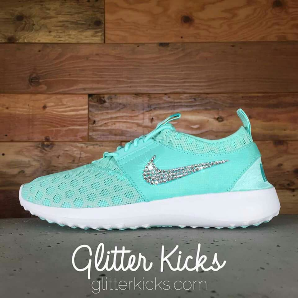 ... buy cheap 0a9cf 154c5 Womens Nike Juvenate Running Shoes By Glitter  Kicks - Customized With Swarovski ... 883fc4e5ee9d