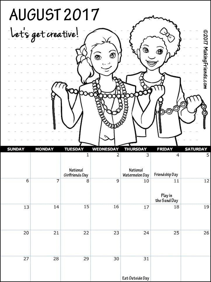 Printable Calendars | Girl Scouts | Pinterest