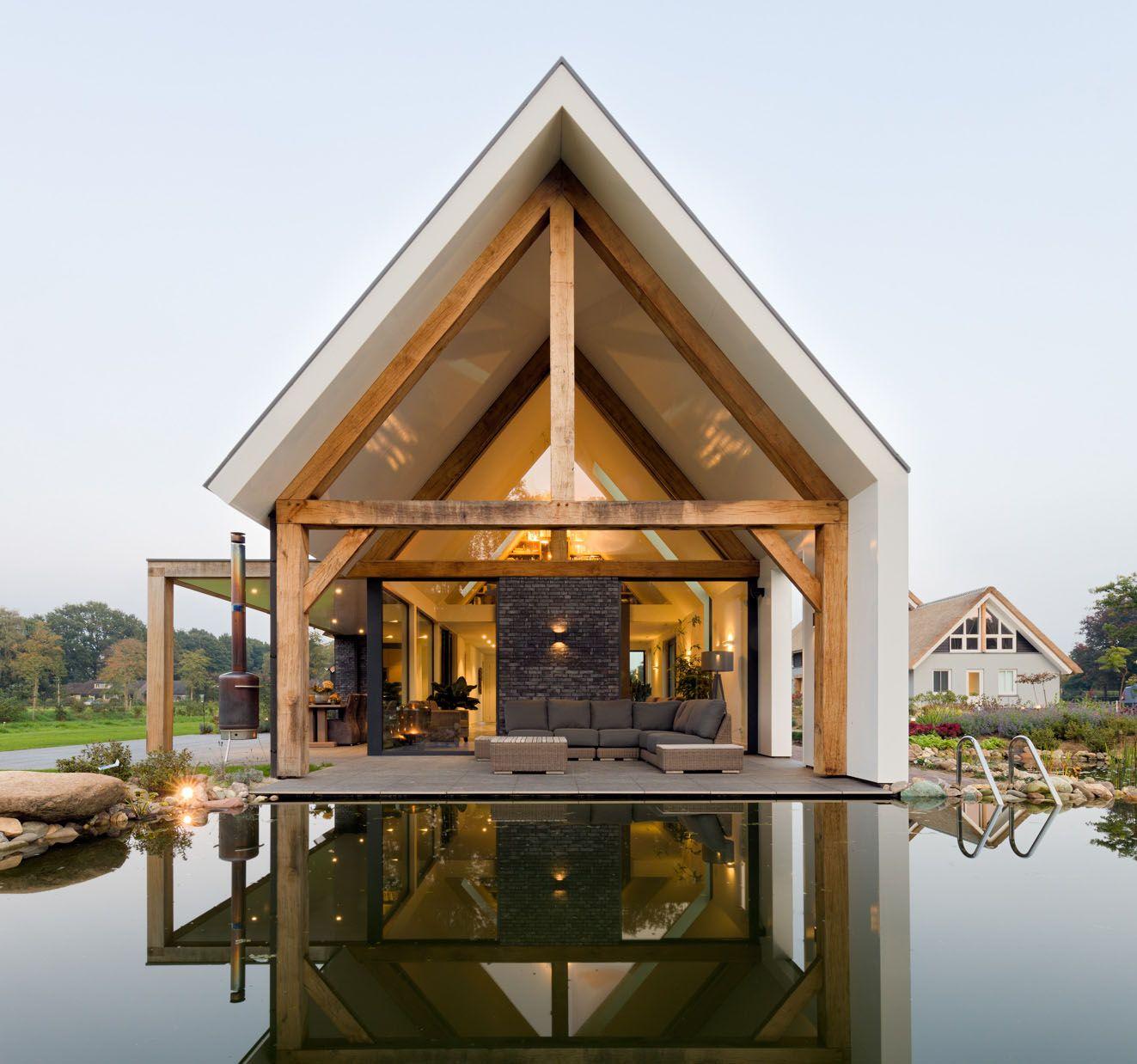 Minimalist modern country villa dalfsen the netherlands