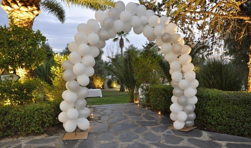 Espectaculares Adornos con globos para boda.¡Originales diseños!