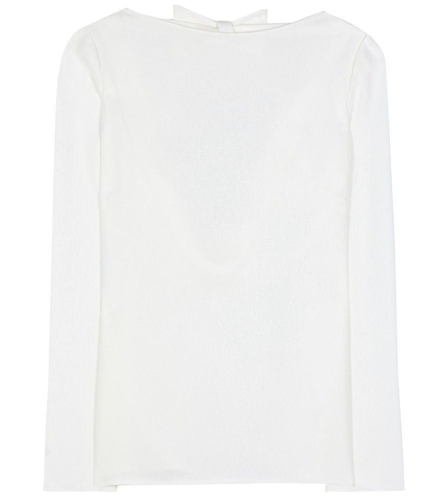Valentino Silk Open Back Blouse Crafted In Italy From Pure Silk