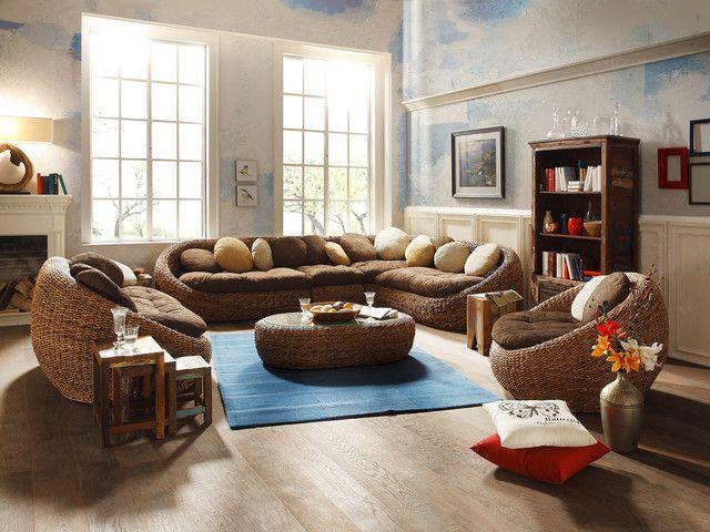 sofa marshall l sofa bananenblatt von safari tour afrika einrichtungsstil. Black Bedroom Furniture Sets. Home Design Ideas