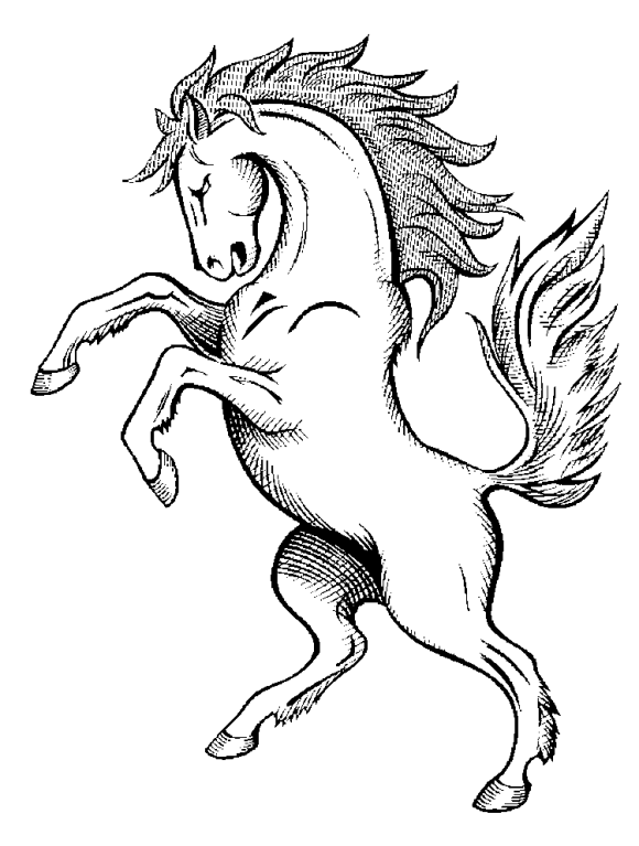 easy horse coloring pages - photo#40