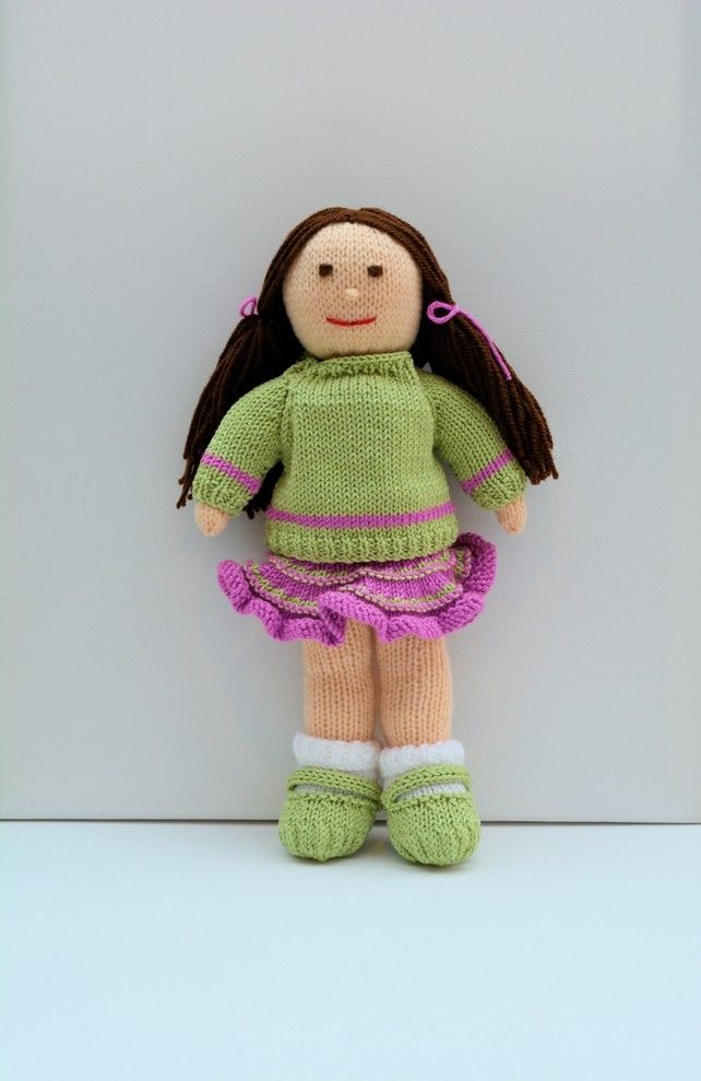 Knit Doll Jemima January Rag Doll Knitting Cross Stitch