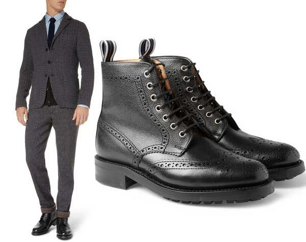 Oliver Spencer black brogue boots are as stylish as they are tough to  polish.