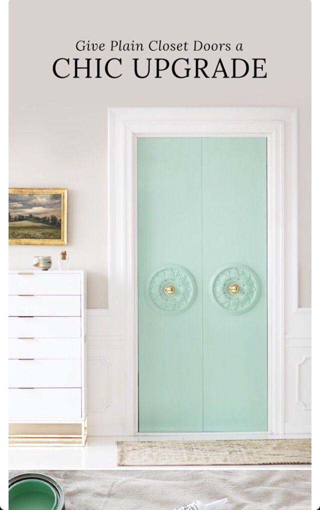 Give Plain Closet Doors A Chic Upgrade.#DIY&Crafts#Trusper#Tip