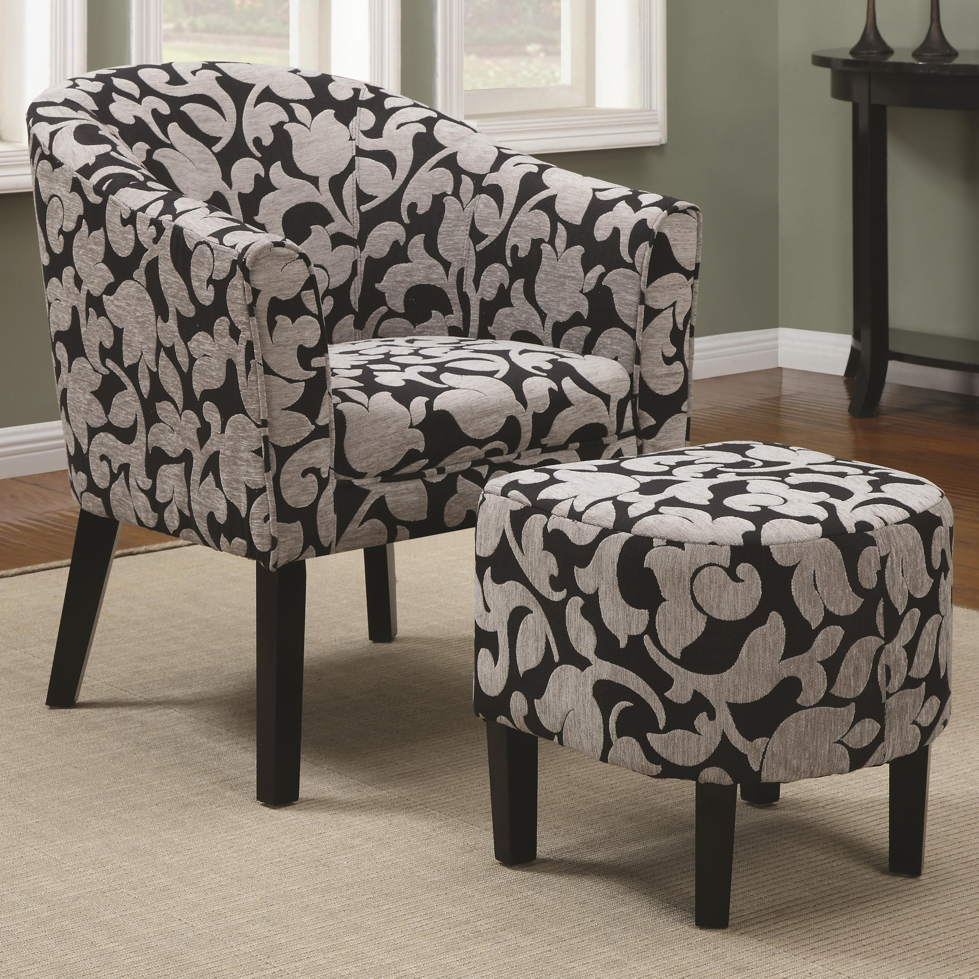 Accent seating accent barrel back chair black gray white i think ive settled on this one i think