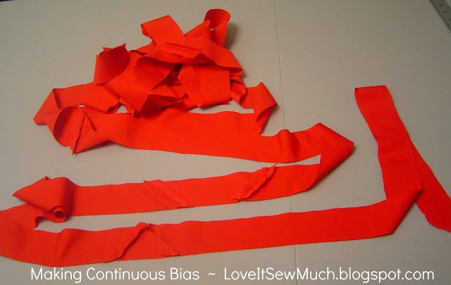 Love It Sew Much:  SEWING TIP: Making Continuous Bias Strips