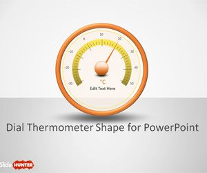 free dial thermometer shapes for powerpoint is a free powerpoint, Modern powerpoint