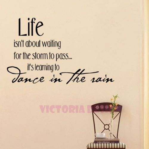 Life Isnu0027t About Waiting  DECAL STICKER QUOTE WALLPAPER