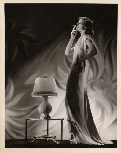 1932 KATHARINE HEPBURN SMOKING ART DECO ERNEST BACHRACH PHOTOGRAPH MASTERPIECE