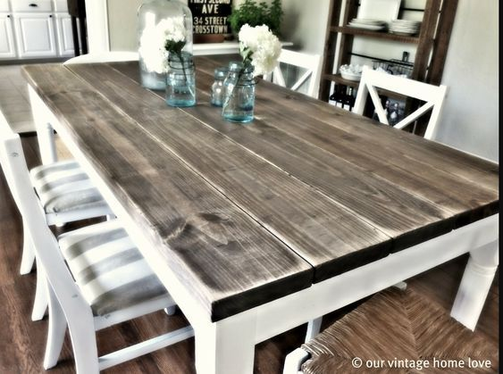 Reclaimed barn wood rustic tables -   21 crafts table ideas