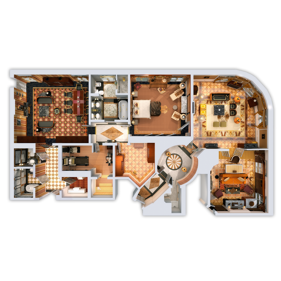 Prince Of Wales Suite 3d Floor Plan Luxury Plan Luxury Collection Hotels Hotel Bristol