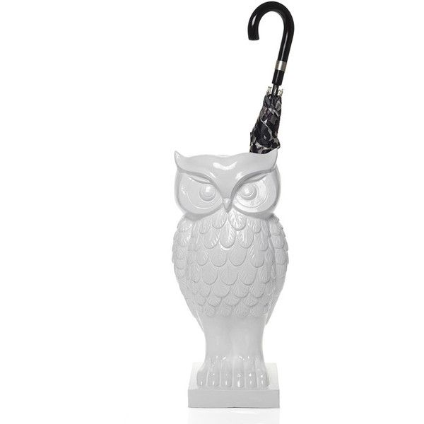 """Owl Umbrella Stand 22"""" ❤ liked on Polyvore featuring home, home decor, small item storage, decor, owl umbrella holder, owl umbrella stand and owl home decor"""