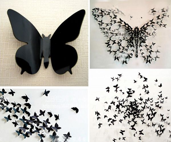 25 Creative Diy Wall Art Projects Under 50 That You Should Try Butterfly Wall Art Diy Butterfly Wall Decor Diy Paper Butterfly