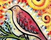 I love birds in art! and the colors are fabulous