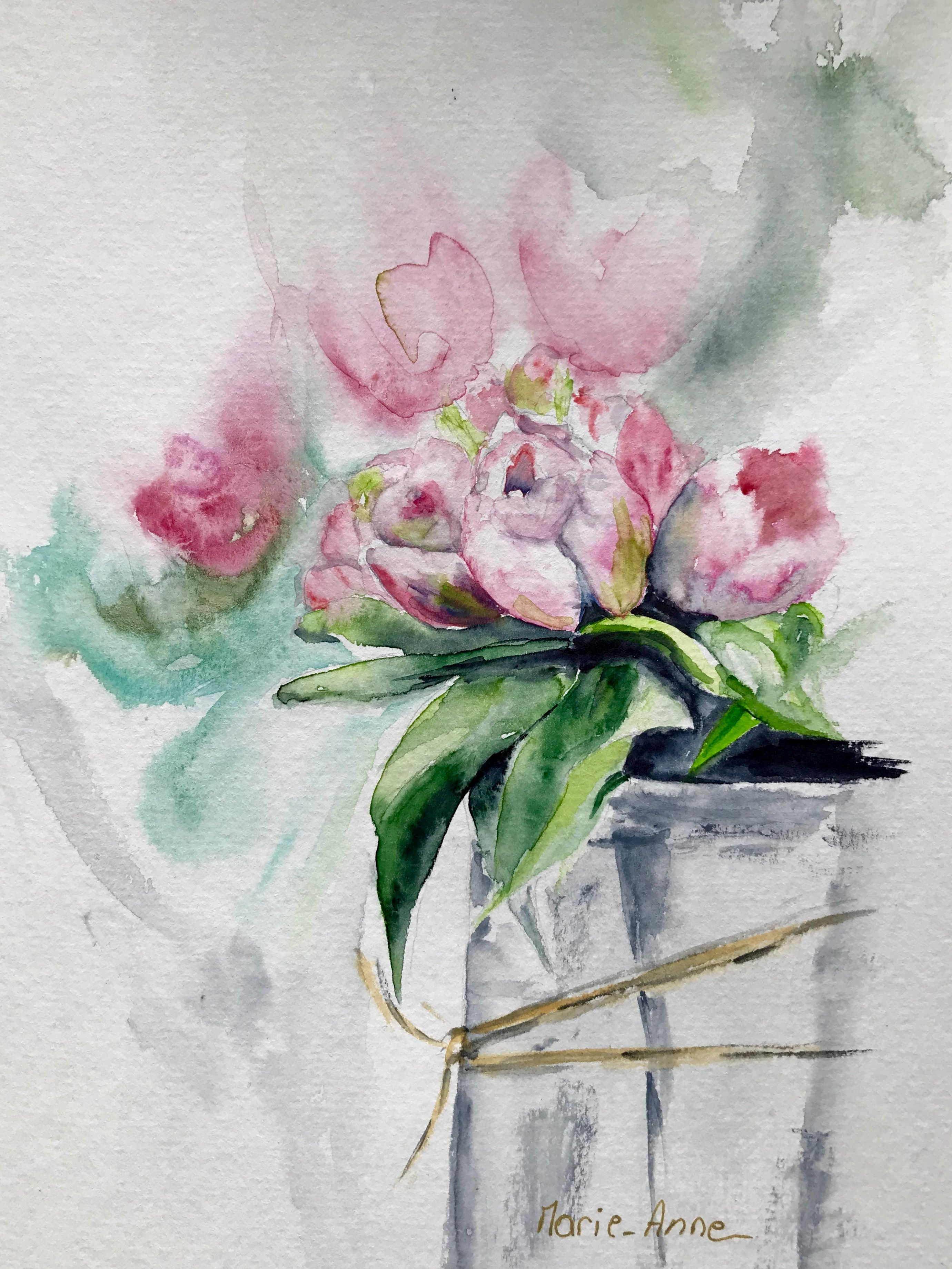 Aquarell Blumen Malen Teil 3 Outlines Youtube