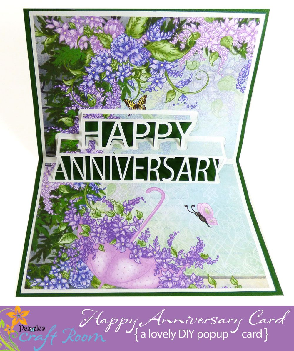 Happy Anniversary Pop Up Card Pazzles Craft Room Anniversary Cards Handmade Happy Anniversary Cards Heart Pop Up Card