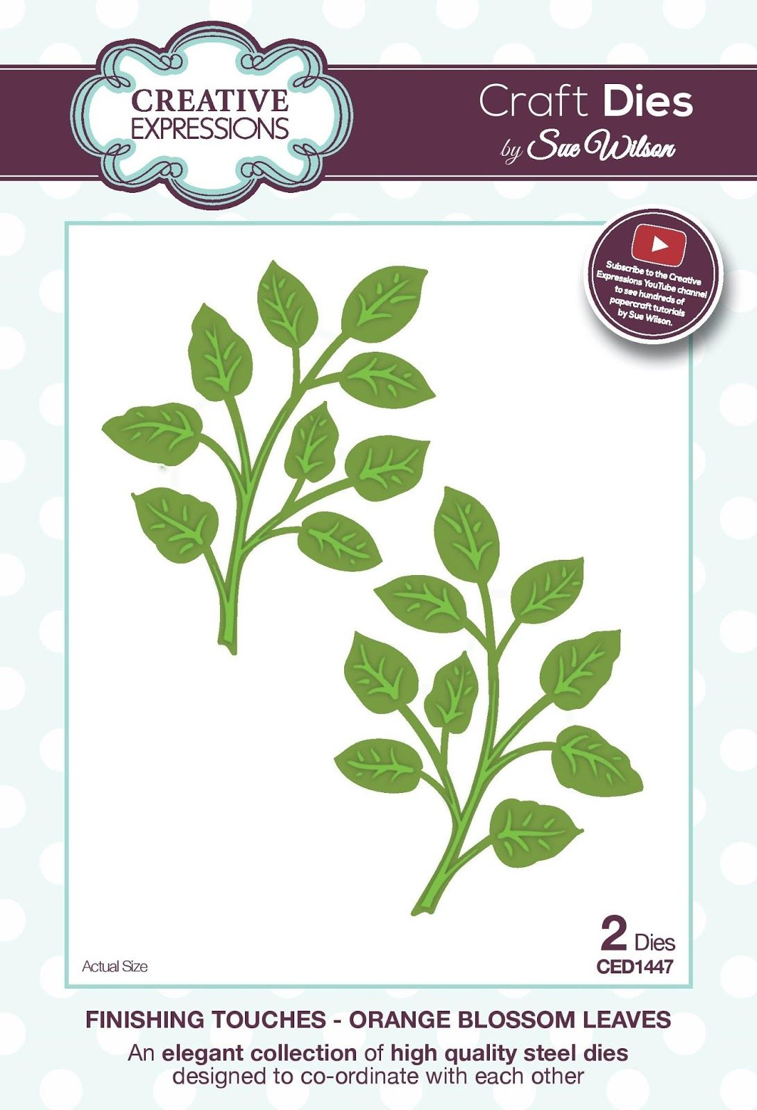 Creative Expressions Finishing Touches Faux Quilled Leaves CED1403 by Sue Wilson