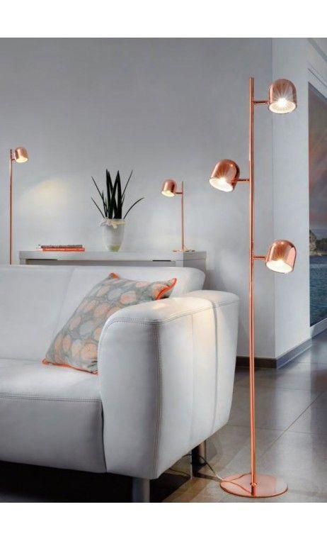 Lampadaire A Led Sur Pied Ella Sompex Cuivre Design Home