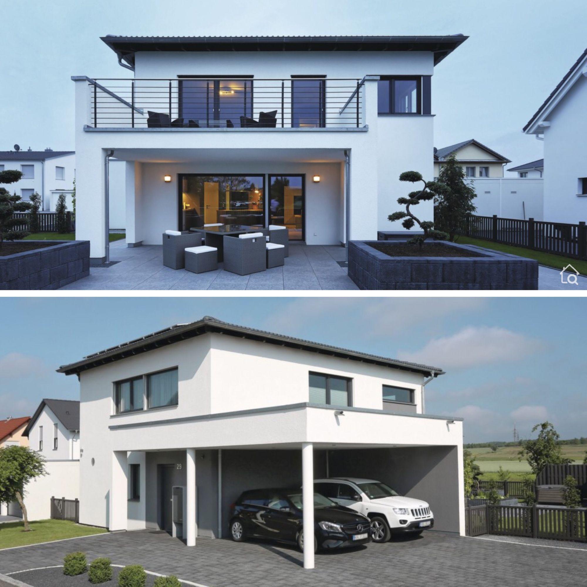 Modern House Architecture Design Ideas With 2 Story Carport Contemporary European Styles In 2020 Haus Grundriss Walmdach Haus Architektur