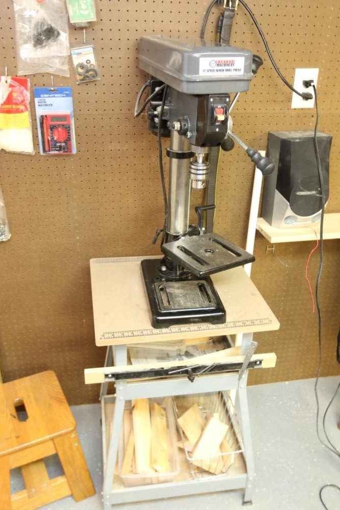 Item 3 Central Machinery 10 12 Speed Table Top Drill Press With Work Bench Approx 20 In 2020 Table Top Drill Press Work Conditions Porter Cable Air Compressor