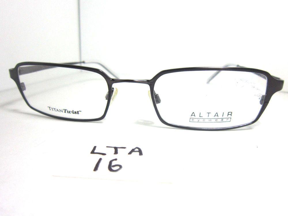New ALTAIR Titan Twist A500 Granite Black Eyeglass Frame Mens Metal ...