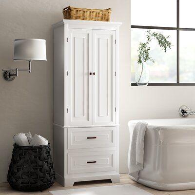 "Greyleigh™ Lillis 24"" W x 62"" H x 16"" D Free-Standing Linen Cabinet   Birch Lane"