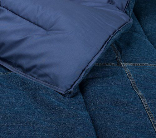 Tommy Hilfiger Comforter All American Denim Collection Full Queen By Tommy Hilfiger 189 00 Coordinates With American Denim Denim Comforter Quilt Stitching