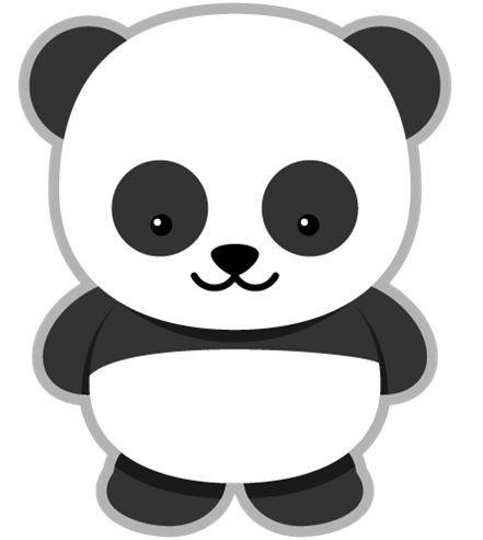 Panda Clipart More Osos Pandas Dibujo Animales Para Imprimir