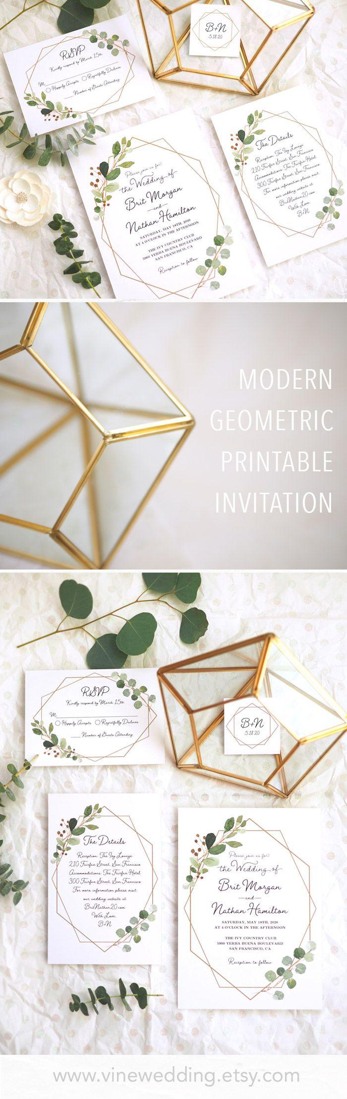 Photo of Geometrisches Grün Hochzeitseinladung #Hochzeiten #Hochzeitsinvi …