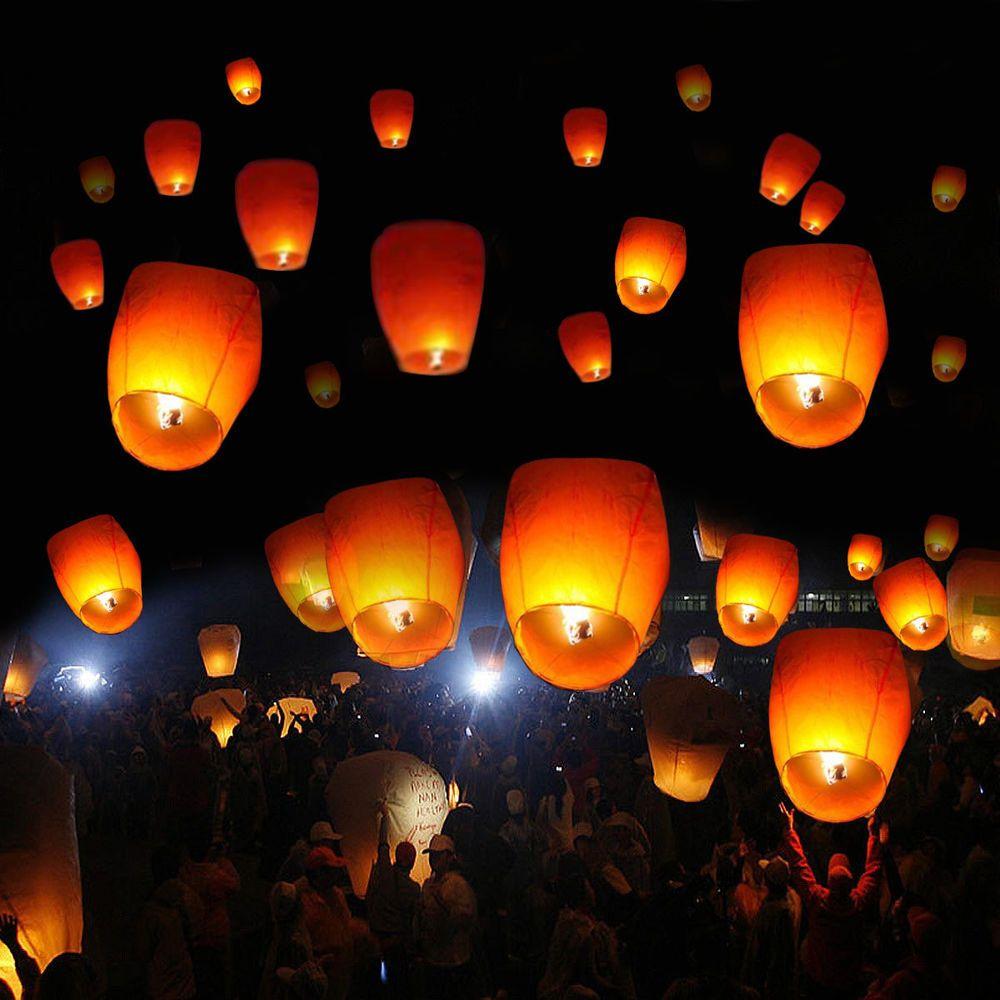 Us 25 59 New In Home Garden Yard Garden Outdoor Living Outdoor Lighting Sky Lanterns Wish Lanterns White Lanterns
