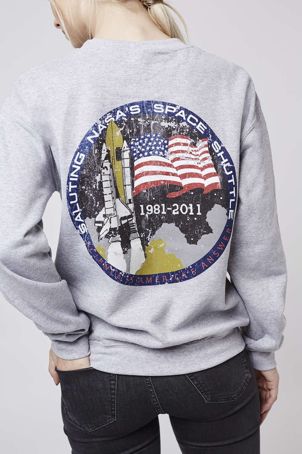 Nasa Distressed Sweater by Tee   Cake - Brands at Topshop - Clothing e0602a47a320