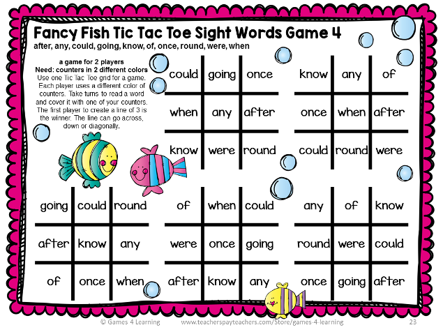 Dolch Sight Words First Grade List Games for Centers or