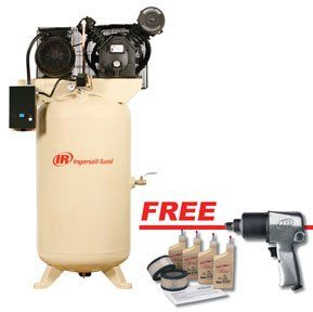 80 Gallon Air Compressor  C2 B7 Electric Driven Two Stage  5hp W Free Air Impact Wrench