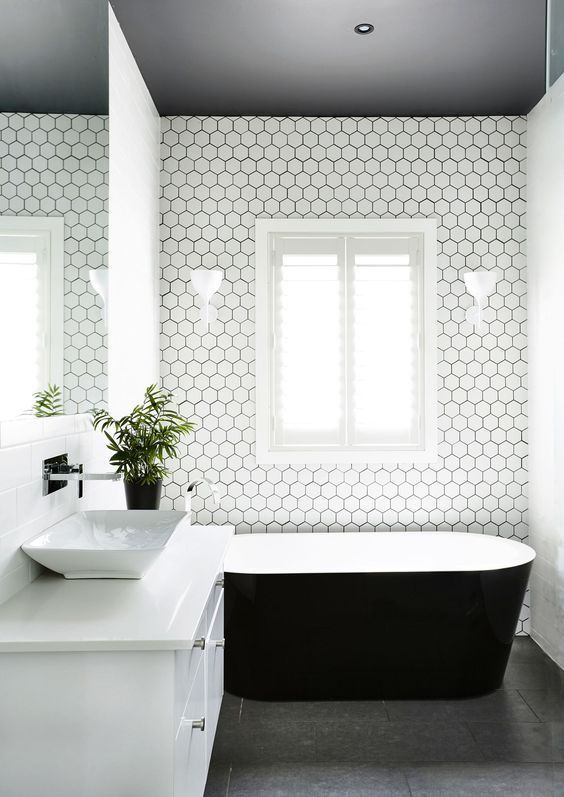 Stunning Hexagonal Honeycomb Bathroom Tiles