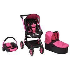 Dimples 3-in-1 Zoom Explorer Doll Pram Stroller Carry Cot Car Seat  Adjustable d83d8d2781