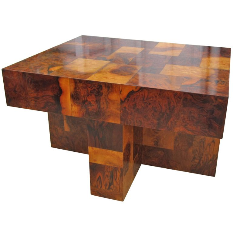 Bon Paul Evans Burled Wood Side Table Ca. Late 60u0027s