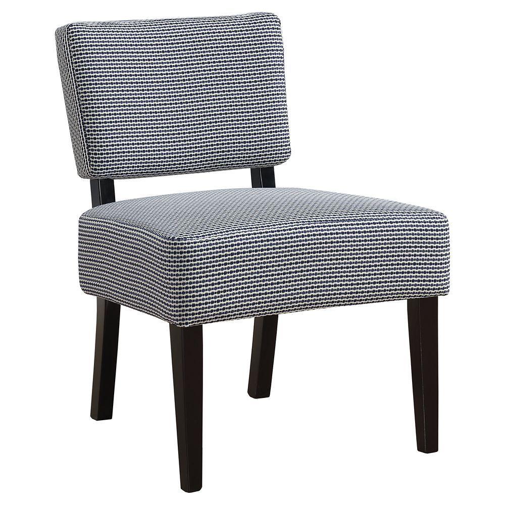 Best Accent Chair Light Dark Blue Abstract Dot Fabric 400 x 300