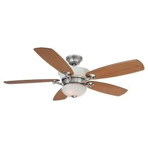 Putting this in our kitchen!!  Hampton Bay Minorca 52 in. Indoor Brushed Nickel Ceiling Fan-26611 at The Home Depot
