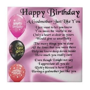 Image Result For Birthday Cards GODMOTHER