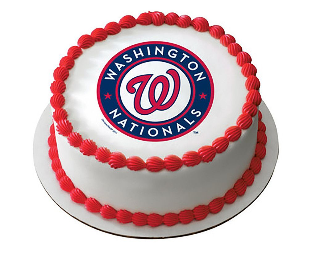Mlb Washington Nationals Baseball Team Logo Edible Image
