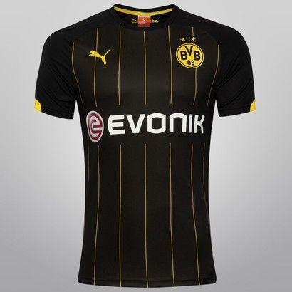 Camisa Puma Borussia Dortmund Away 14 15 s nº - Preto+Amarelo ... b02b94317fbf8