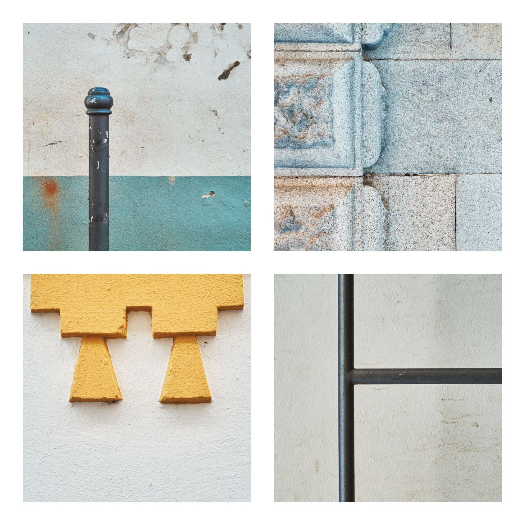 """Lüftungsschächte, Dachrinnen, Garagentore und Mülltonnen sind die Protagonisten im Projekt """"Urbane Details"""" des Passauer Fotografen Christian Kropfmüller."""