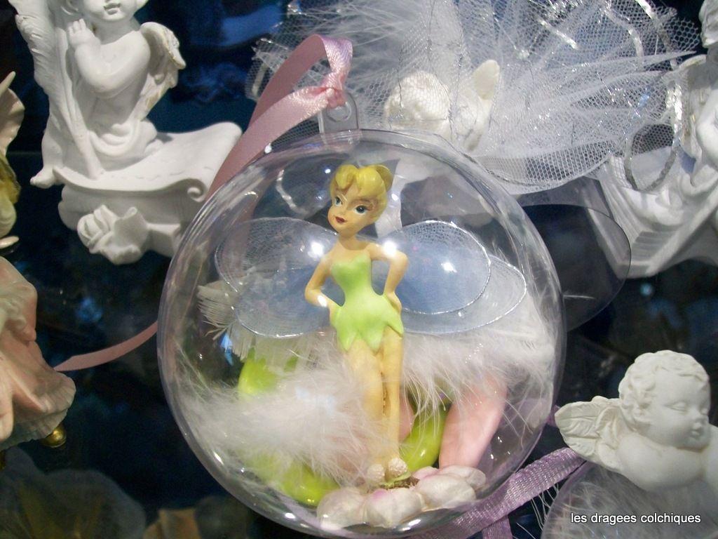Emballage avec dragee bapteme theme disney f e clochette contenants et drag es vente de faire - Decoration de noel disney ...