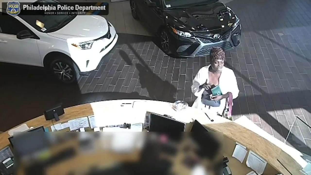 Philadelphia Police Released A New Video Thursday Morning Of Woman Who Stole Car From The Center City Toyota Dealership