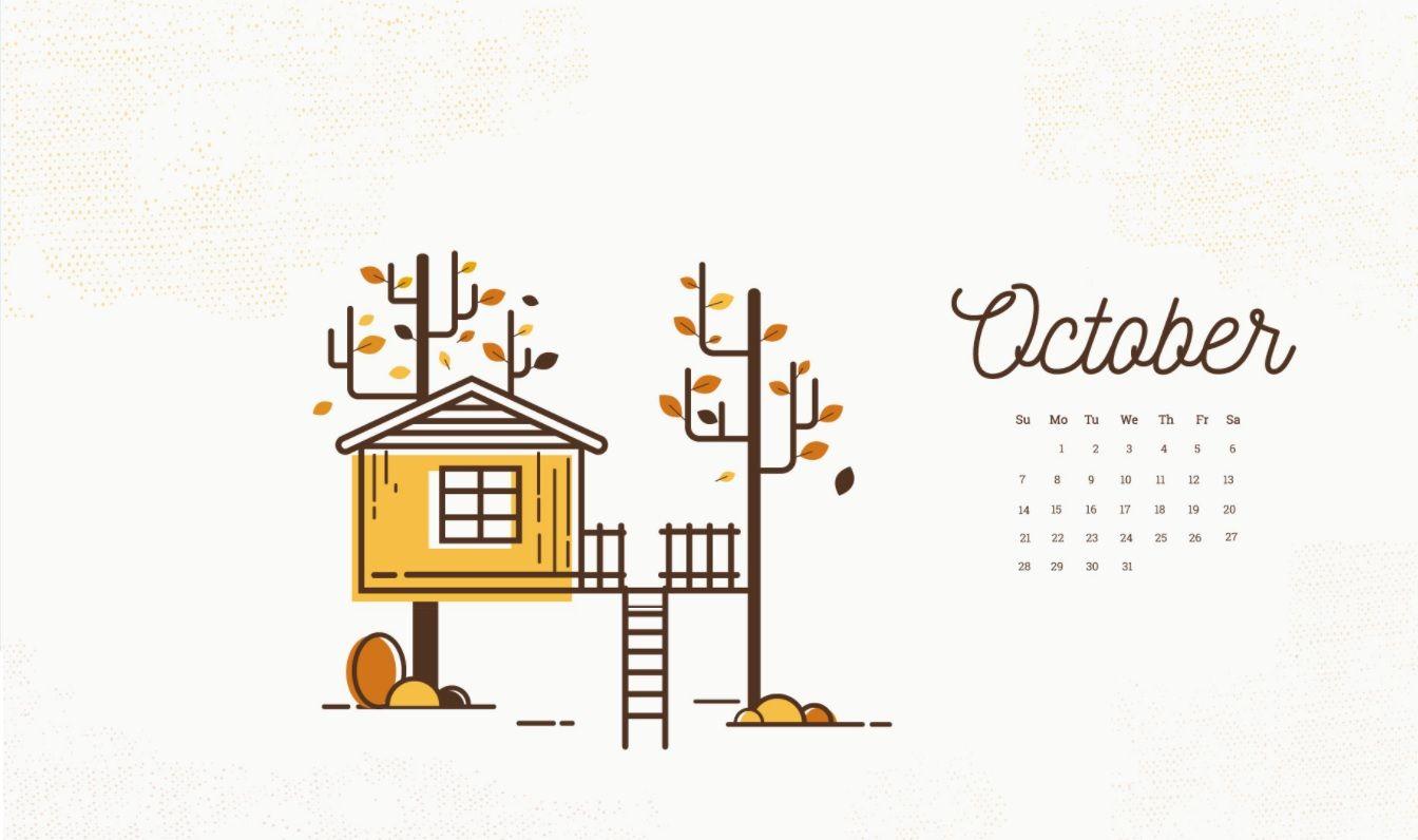 October 2018 Calendar Wallpapers Calendar Wallpaper October